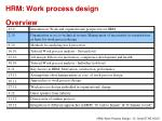 hrm work process design overview1