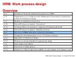 hrm work process design overview4