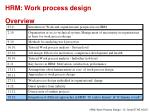 hrm work process design overview8