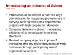 introducing an intranet at admin grote 1993