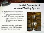 initial concepts of internal testing system