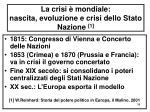 la crisi mondiale nascita evoluzione e crisi dello stato nazione 1