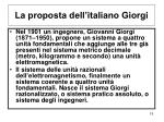 la proposta dell italiano giorgi