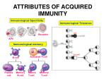 attributes of acquired immunity