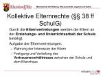 kollektive elternrechte 38 ff schulg