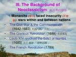 iii the background of neoclassicism
