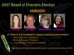 2007 board of directors election