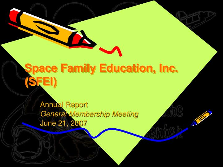 space family education inc sfei n.