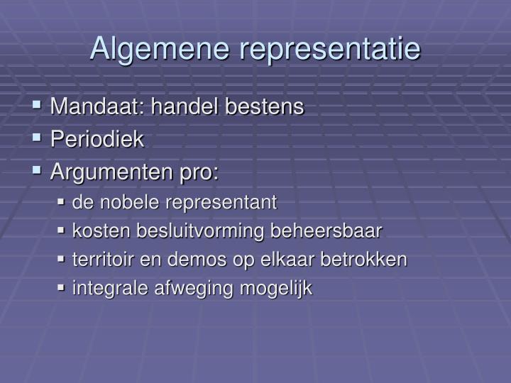 Algemene representatie