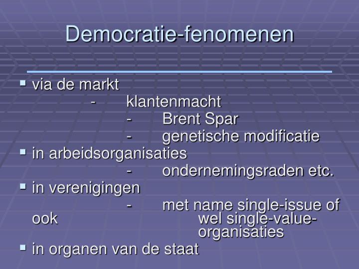 Democratie fenomenen