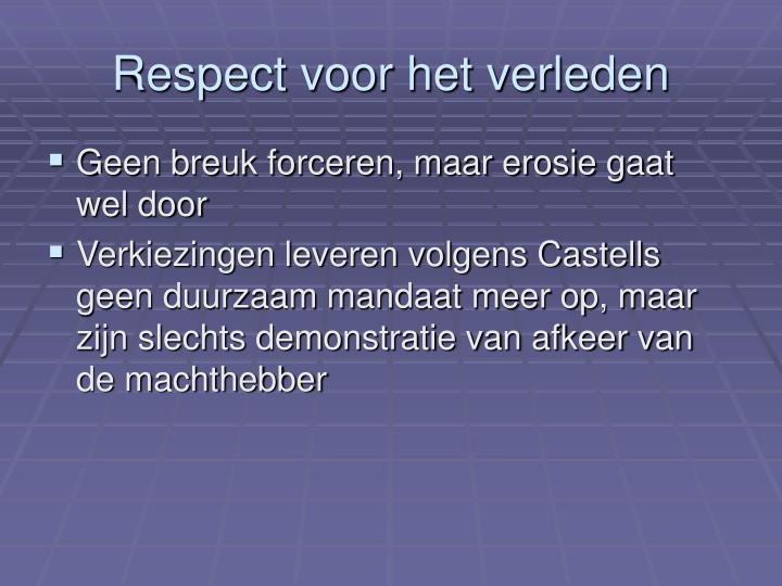 Respect voor het verleden