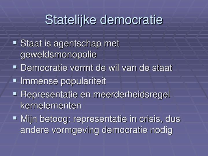 Statelijke democratie