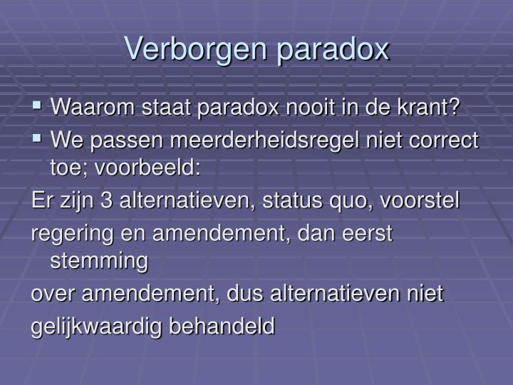 Verborgen paradox