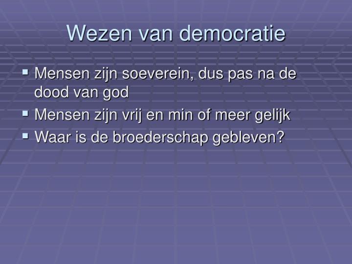 Wezen van democratie