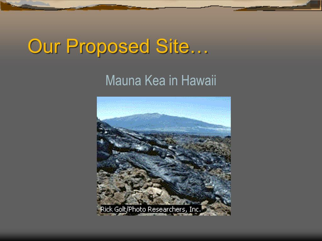 Our Proposed Site…