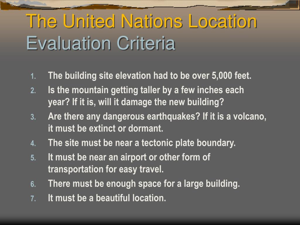 The building site elevation had to be over 5,000 feet.
