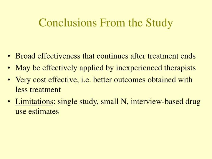 Conclusions From the Study
