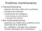 prot ines membranaires