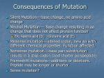 consequences of mutation