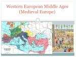 western european middle ages medieval europe