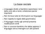 la base sociale