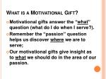 what is a motivational gift