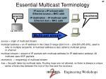 essential multicast terminology