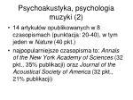 psychoakustyka psychologia muzyki 2