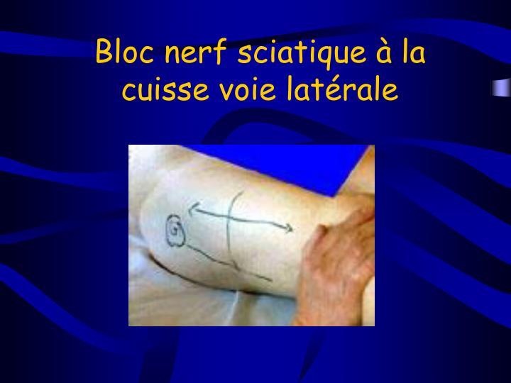 Bloc nerf sciatique à la cuisse voie latérale