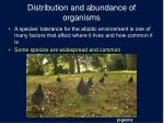 distribution and abundance of organisms1