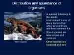 distribution and abundance of organisms2