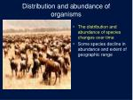 distribution and abundance of organisms3