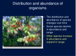 distribution and abundance of organisms4