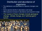 distribution and abundance of organisms5