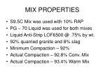 mix properties