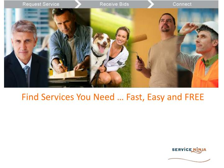 Find services you need fast easy and free