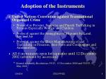 adoption of the instruments