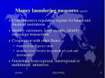 money laundering measures art 7