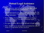 mutual legal assistance