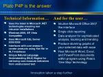 plato p4p is the answer
