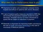 what does pay for performance mean to you