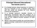 principal inbound international tax issues con t