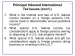 principal inbound international tax issues con t1