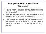 principal inbound international tax issues