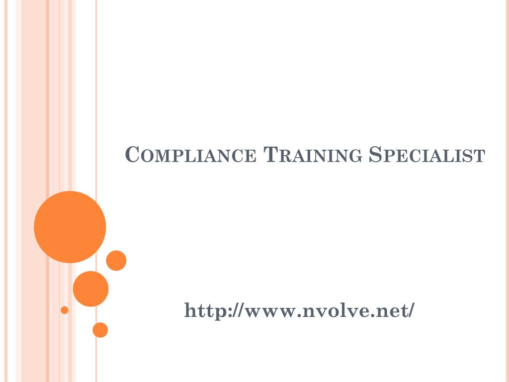 compliance training specialist l.