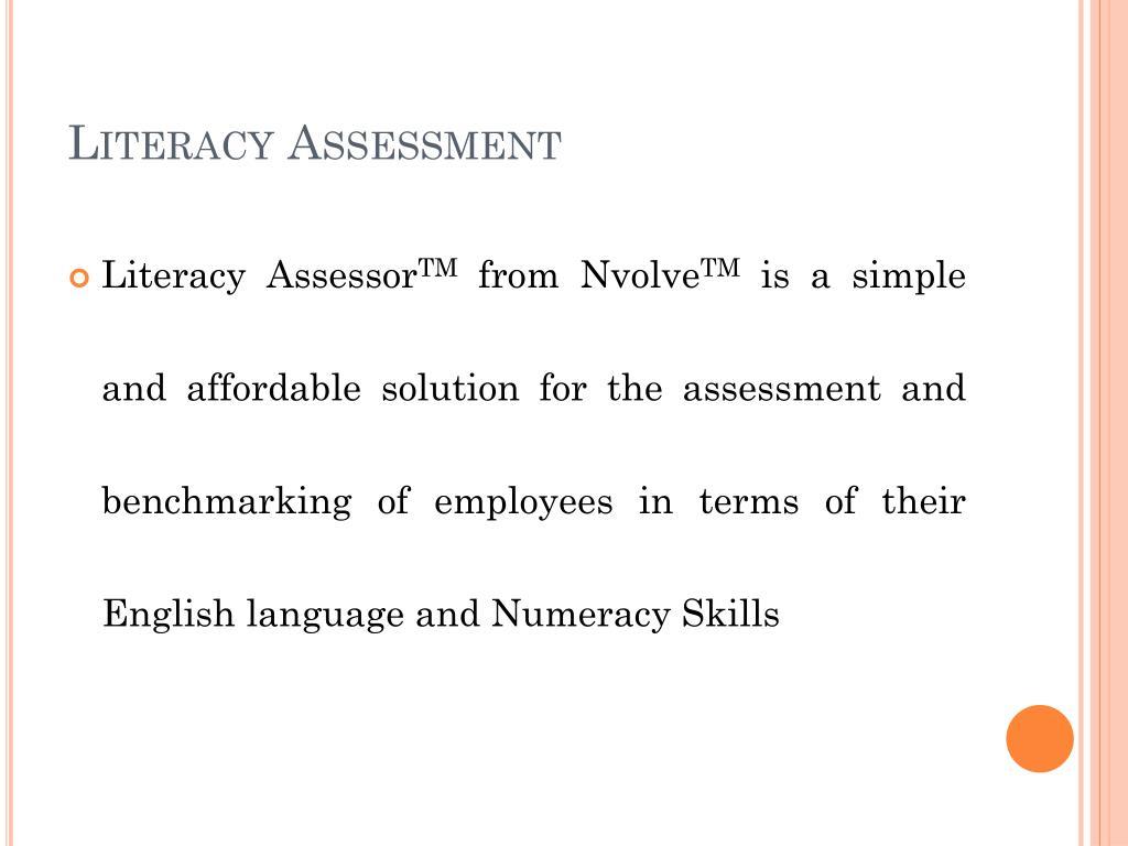 Literacy Assessment