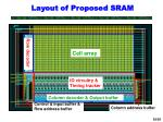 layout of proposed sram