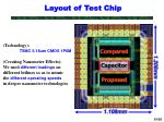 layout of test chip
