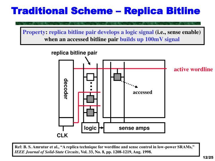 Traditional Scheme – Replica Bitline