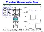 transient waveforms for read